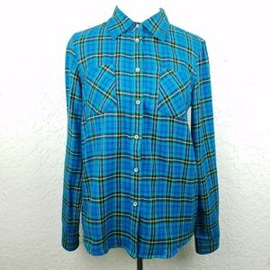 Natural Reflections Women button down size S plaid